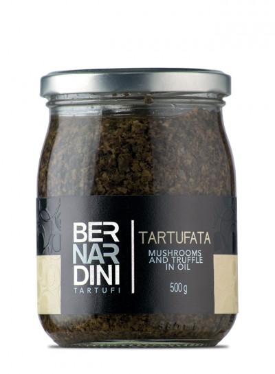 """""""Tartufata"""", salsa de trufa negra de verano y setas 500 gr"""