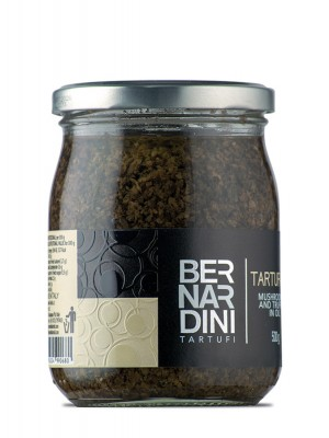 Mushrooms and truffle sauce 500 gr, 18,59 €, Bernardini Truffles Acqualagna Italia