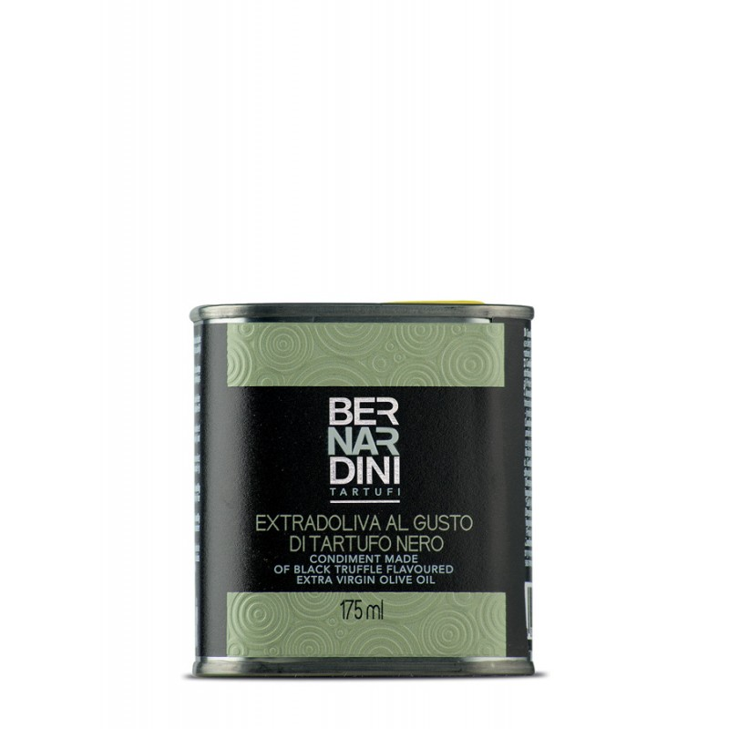 Black truffle oil in can 175 ml, 8,69 €, Bernardini Truffles Acqualagna Italia