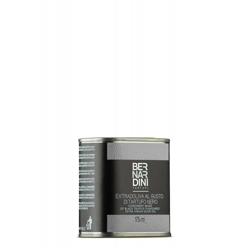 Black truffle oil in can 175 ml, 8,69 €, Bernardini Truffles, Acqualagna Italia