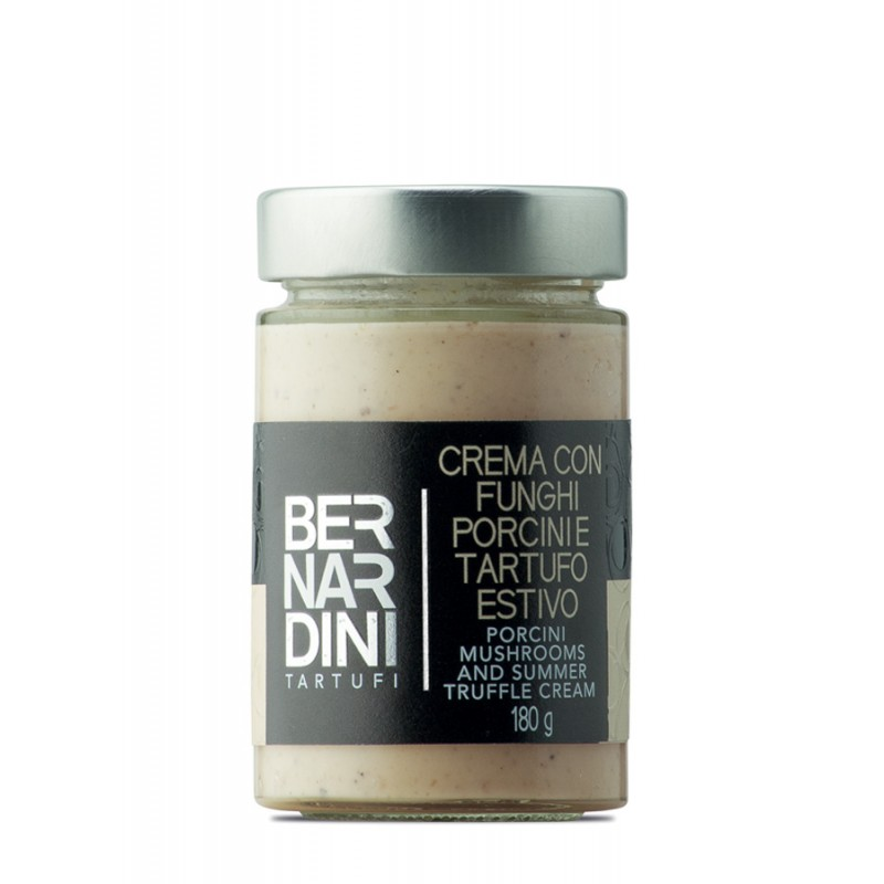 Porcini mushrooms and truffle cream 180 gr, 12,10 €, Bernardini Truffles Acqualagna Italia