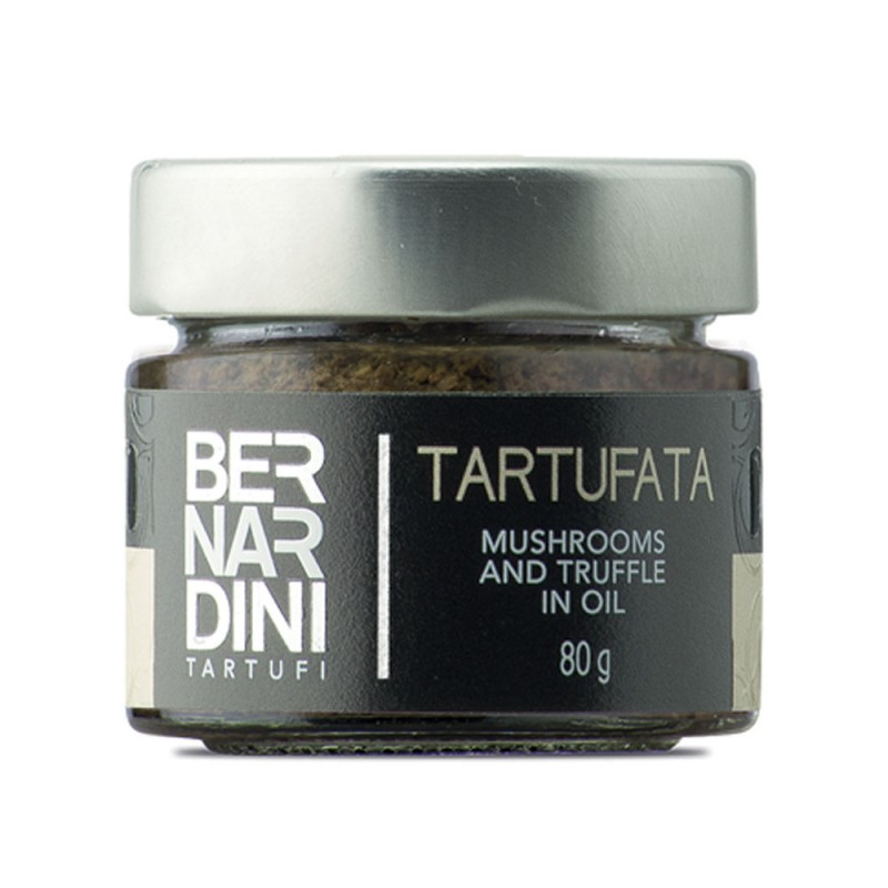 Mushrooms and truffle sauce 80 gr, 7,15 €, Bernardini Truffles Acqualagna Italia