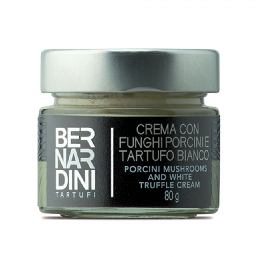 Porcini mushrooms and white truffle cream 80 gr, 13,75 €, Bernardini Truffles, Acqualagna Italia