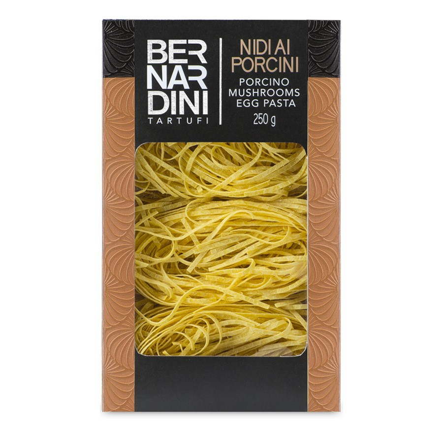 Egg pasta with porcini mushrooms, 12,08 €, Bernardini Truffles, Acqualagna Italia